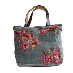 En fil d'Indienne Rose Shopper, Blue
