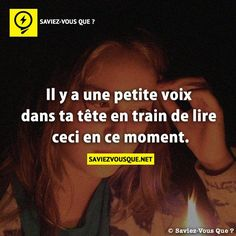 Elle m a fait sourire celle ci ! Real Facts, Fun Facts, Things To Know, Did You Know, Fonts Quotes, Knowing You, Affirmations, Haha, Life Quotes
