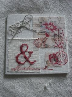 Cross stitch and stamping