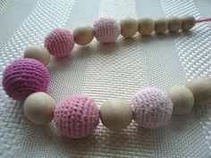 Items similar to ON SALE Pink Nursing Necklace, Breastfeeding Necklace, Teething necklace with crochet beads, Eko Necklace on Etsy Nursing Necklace, Teething Necklace, Breastfeeding Necklace, Love Natural, Mild Soap, Wooden Beads, Photo Props, Baby Gifts, Beaded Bracelets