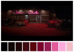 Blue Velvet David Lynch) / Cinematography by Frederick Elmes Movie Color Palette, Colour Pallette, Purple Palette, Blue Velvet Movie, Pantone, Cinema Colours, Color In Film, Color Script, Mood And Tone