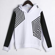 Loose Hooded Sweatshirt Casual Unisex Kpop Exo Hoodie Cobweb Printed Moleton Feminino Exo Side Zipper Lunhan Street Sudaderas