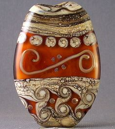 ~ Canberra ~ Handmade Lampwork Focal Bead By Soul Of Glass OOAK SRA