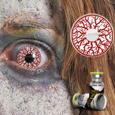 Be the scariest this Halloween with Scream contact lenses, they change your eye color to red and white in blooshot effect, the results are really amazing