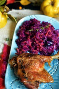 Napfény és Fűszer: Kacsasült birsalmás vöröskáposztával Meat Recipes, Chicken Recipes, Okra, Cabbage, Bacon, Turkey, Dishes, Minden, Food