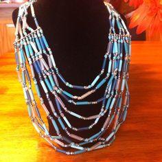 ↘️Aqua and blue statement necklace Aqua and blue statement necklace Jewelry Necklaces