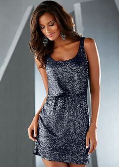 Navy sequin dress w/ elastic waist BOUGHT THIS! Can't wait for it to come in then PARTY in it lol