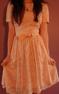 Pretty in Pink Vintage Blush Lace Dress Sz Small by MollyBlooms, $59.00