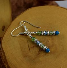 LAGOON blue and green Les Petite Cristaux by OklahomaMama on Etsy