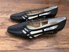Vintage Black Minimalist Kitten Heels w/ Side Cutouts | 80s Heels | Black Leather Slip On Heels | Boho Chic Heels | Vintage Dress Shoes by VintageBobbieMaude on Etsy
