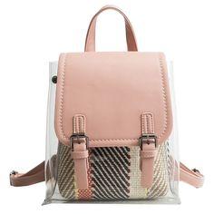 Pink Clear Bag Summer Fashion Backpack for Women #outfitoftheday #lookoftheday #fashionblogger #photooftheday #whatiwore #picoftheday #ootd #ootdsubmit #ootdmagazine #onlineshop #shopgirlla #shopmycloset #instashop #instasale #instacloset #clothesforsale #girlgaze #vintageclothes #whowhatwearing #pvc #bucketbag #clearbagtrend #pvcbag #pvcbagtrend #clearbag #clearpurse #handbag #handbagaddict #purseaddict #bagtrendy #bagtrends