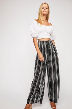 50ac8ed79d Season Stripe Wide Leg Pants | Free People New Ladies Fashion, Latest  Fashion For Women