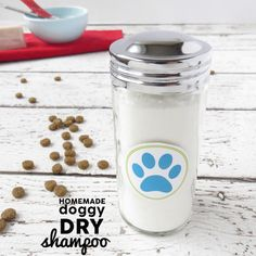 """D.I.Y. Dry Shampoo for Dogs - dry shampoos are used as a way to """"freshen"""" up between washes. You can make a dry shampoo for dogs too!"""
