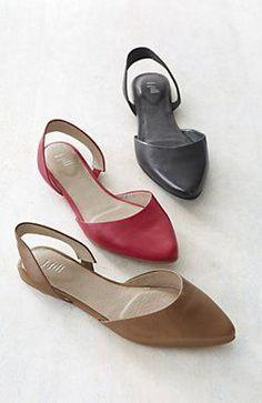 Tendance Chaussures - d Orsay slingback flats from J.Jill. Modèle De  Chaussure · Chaussures Femme ... c4ab7969a790