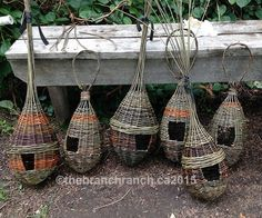 We offer workshops throughout the year weaving with willow making baskets, garden ornaments, bird feeders and living willow structures. Willow Weaving, Basket Weaving, Garden Crafts, Garden Art, Living Willow, Twig Art, Willow Branches, Tree Branches, Birds And The Bees