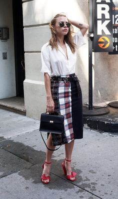 See how fashion girls are reinventing how to wear a pencil skirt that have us giving the garment a second glance.