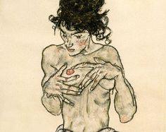 Resultado de imagen de Standing Nude, 1911 Egon Schiele