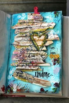 Yes and Amen Blog: art + journal. Crazy amazing art journaling pictures and even offers a course on how to make your own! Very talented artist.