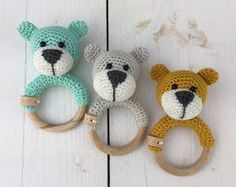 Free crochet pattern for teething ring (in Dutch)