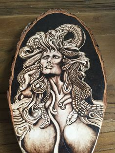 Medusa Dark Art Mythical Fantasy Drawing Art by TimberleeEU