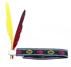 Elastic Headwear with Feather American Indian Cosplay Costume Accessories ** Visit the image link more details.