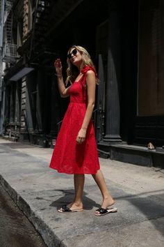 1bc2c12af8 UNDER  100 Day 5  Red Eyelet Bow Dress