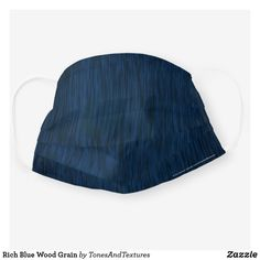 Rich Blue Wood Grain Cloth Face Mask