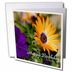 gc_59713_1 Lee Hiller Photography Photo Messages - Happy Birthday Flowers - Greeting Cards-6 Greeting Cards with envelopes  by Lee Hiller #Photography and Designs