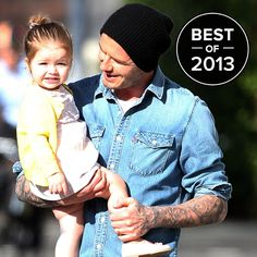 David and Harper Beckham: the Year's Cutest Duo