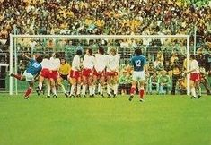 Poland 2 Yugoslavia 1 in 1974 in Frankfurt. A free kick from Stanislav Karasi scores for Yugoslavia to make it 1-0 on 27 minutes in Round 2, Group 2 at the World Cup Finals.