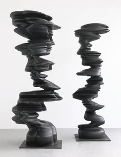 Tony Cragg B. 1949 PAIR incised with the artist's signature and dated 2011 bronze, in two parts (i) 320 by 94 by 126 by 37 by 49 in. (ii) 310 by 75 by 122 by 29 by 41 in. Stone Sculpture, Sculpture Clay, Abstract Sculpture, Conceptual Art, Lovers Art, Art Day, Contemporary Art, Art Photography, Art Pieces
