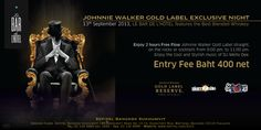 Bangkok Friday 13th September 2013 from 09.00-11.00 pm (party continues), free flow Johnnie Walker Gold Label with DJ Mello Dee at Le Bar #Bangkok #lebar #party #goldlabel