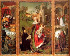 Bartolomé Bermejo - Retablo della vergine di Montserrat - Arte cristiano - Wikipedia, la enciclopedia libre