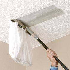 Ceiling Texture Scraper You can attach a plastic bag to this Popcorn Ceiling Sc. Ceiling Texture Scraper You can attach a plastic bag to this Popcorn Ceiling Scraper from Homax to Home Renovation, Home Remodeling, Bedroom Remodeling, Home Improvement Projects, Home Projects, Home Improvements, Ceiling Texture Types, Removing Popcorn Ceiling, Popcorn Ceiling Removal