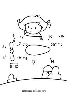 Jeu d'avion Numbers Preschool, Preschool Worksheets, Spot The Difference Kids, Preschool Activities, Activities For Kids, French Language Lessons, Kindergarten Lessons, First Grade Math, Math For Kids