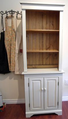 Country style solid pine wood hutch $499 - Toronto http://furnishly.com/country-style-solid-pine-wood-hutch.html