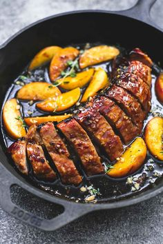 Easy and incredibly delicious one pan brown sugar pork & apples is quick to fix in less than 30 minutes and has wonderful fall flavors.