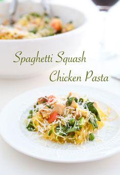 Spaghetti Squash Chicken Pasta