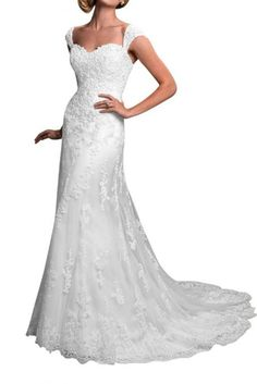 *Maillsa a-line tulle wedding dress with lace appliques and beadings PP653