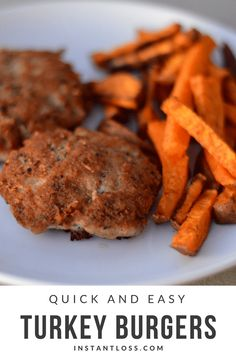 Quick and Easy Turkey Burgers instantloss.com