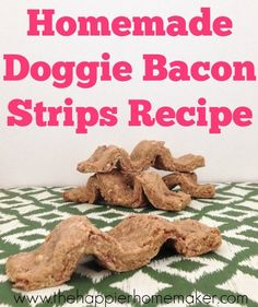 Homemade Doggie Bacon Strips Recipe