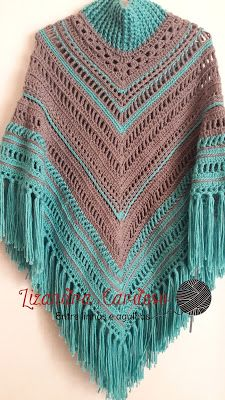 Crochet beautiful and openwork poncho. Free patterns for crochet openwork poncho Crochet Cape, Crochet Poncho Patterns, Crochet Shawls And Wraps, Crochet Jacket, Crochet Cardigan, Crochet Scarves, Crochet Clothes, Knitting Patterns, Chevron Crochet