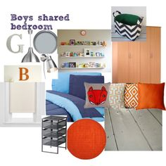 blue, navy, orange, grey white