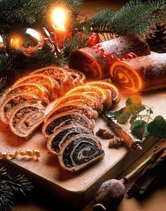 Hungarian Walnut Roll and Poppy Seed Roll - This is a very traditional pastry always served every Christmas in Hungary.
