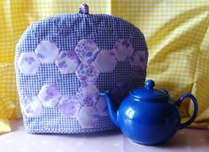Vintage Flowery Gingham Purple Tea Cosy £10.00  #CRAFTfest