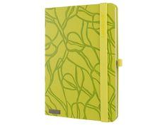 Moderní zápisník Lanybook ve žlutozeleném provedení, elastickým Lanybandem a poutkem pro Vaše oblíbené pero. Office Supplies, Notebook, Unisex, Exercise Book, The Notebook, Journals
