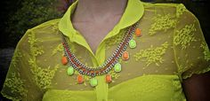 Memorable Neon Summer Storms X whf Turquoise Necklace, Beaded Necklace, Bright Colours, Storms, How To Memorize Things, Neon, Summer, How To Wear, Outfits