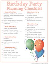 Free Printable Party Planner Checklists  Party Planning
