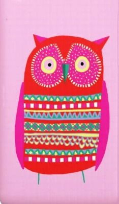 'Girly Pink Owl' by Jane Newland