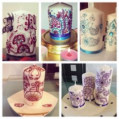 Some of the henna candle designs